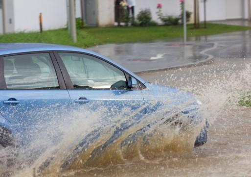 Veel regenval in Loon op Zand