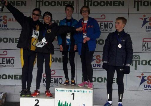 De eerste cross prijzen voor Atletiek Club Waalwijk