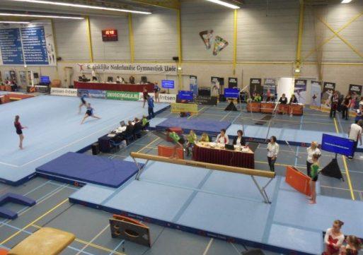 Kwalificatie teams turnen dames 2016 in Sportcentrum Waspik